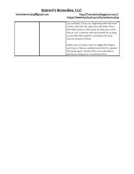 Beginner Yoga Class Plan #3