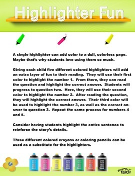Reading Comprehension 25 passages for beginners K-1  Volume 1