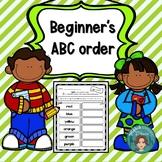 Alphabetical Order - Beginner's ABC order with editable