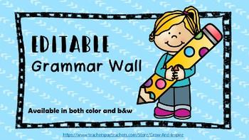 Beginner's Editable Grammar Wall