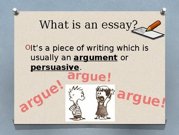 Beginner's Guide to the Five Paragraph Essay, PPT