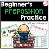 Beginner's Preposition Practice- with Humpty Dumpty