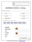 Beginner's Spanish 101 - Articles
