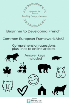Beginner to Developing French Reading Comprehension Questions