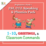 ESL/ELL Numbers, Greetings, Classroom Commands (Beginners