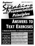 Beginners' Before Speaking with Pronunciation Principles:Reproducible Answer Key