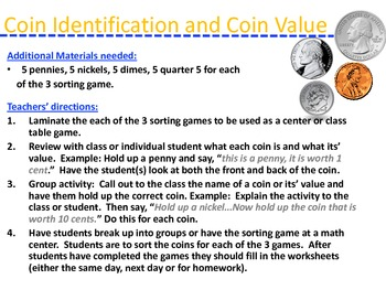 Beginner's Coins Part 2: Sorting Games And More
