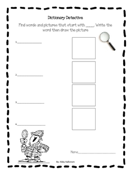 Beginners Dictionary Detective Literacy Center
