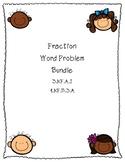 Beginners Fraction Word Problem Bundle