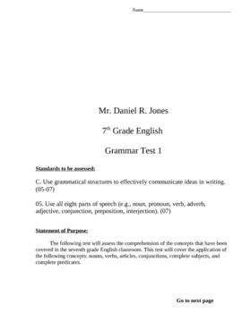 Beginners' Grammar Test