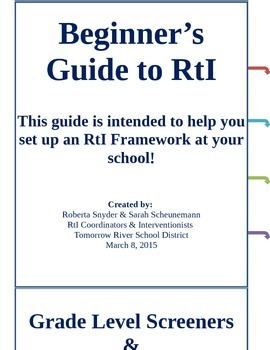 Beginner's Guide to Creating an RtI Framework