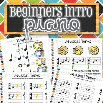Beginners Intro/Review for Piano - INSTANT DOWNLOAD