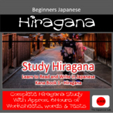 Beginners Japanese - Study Hiragana Complete course 1-3 Learn to Read & Write