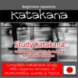 Beginners Japanese - Study Katakana Complete course 1-3 Learn to Read & Write