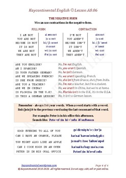 A0.06 - Subject Pronouns & Verb To Be