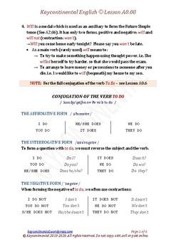 A0.08 - Auxiliary Verbs