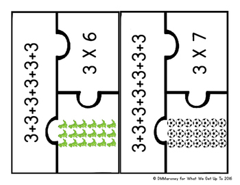 Beginners Look at Multiplication Factors 3 and 4 Resource