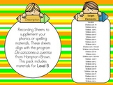 Beginners Phonics or Word Work Sheets in Spanish for the B