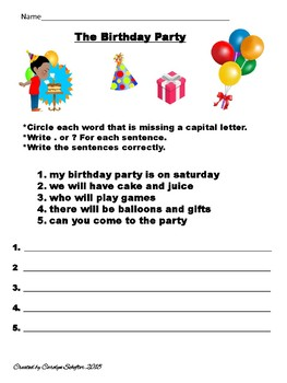 Beginners Punctuation