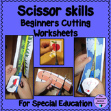 Beginners Scissor Skills Worksheets for Special Education