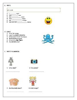 Beginners grammar worksheet