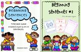 Beginning Sentences BUNDLE