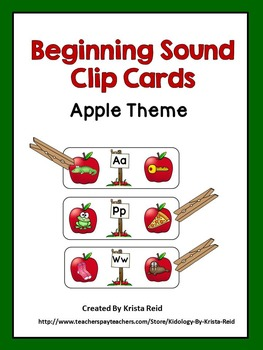 Beginnging Sounds Clip Cards