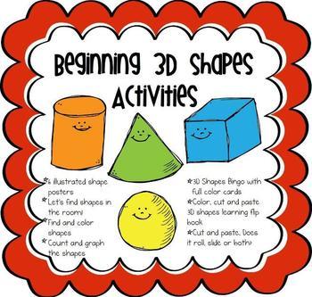 Beginning 3D Shapes Activities