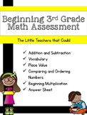 Beginning 3rd Grade Math Assessment