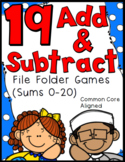 1st Grade File Folder Games - Beginning Addition and Subtraction - 19 Games!