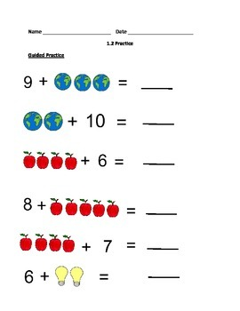 Beginning Addition: Counting on With Pictures in Different Orders (lesson 1.2)