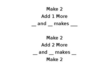 Beginning Addition LOW prep, easy to set up Math Center