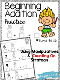 Beginning Addition Practice ~ Solving Sums to 12