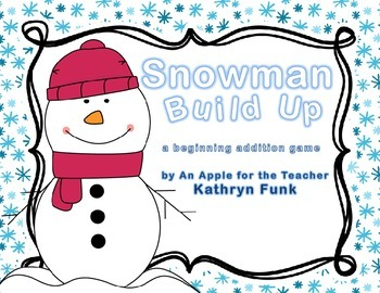Build-A-Snowman Math addition game with QR codes for self checking