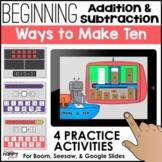 Beginning Addition & Subtraction: Ways to Make Ten - Boom,