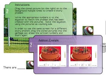 Addition & Subtraction Math Centers & SMARTboard Companion