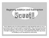 Beginning Addition and Subtraction Review Scoot