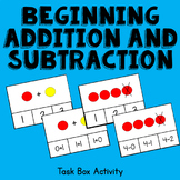 Beginning Addition and Subtraction within 5 Task Box