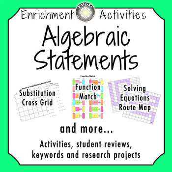 Algebraic Statements Activities
