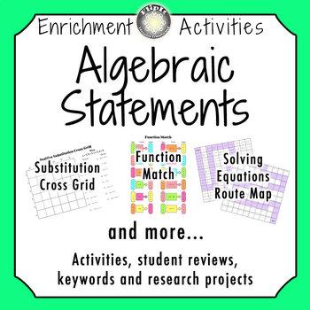 Algebraic Statements Activities