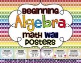 Beginning Algebra Math Wall Posters