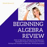 Beginning Algebra Review