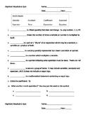 Beginning Algebra Vocabulary Quiz