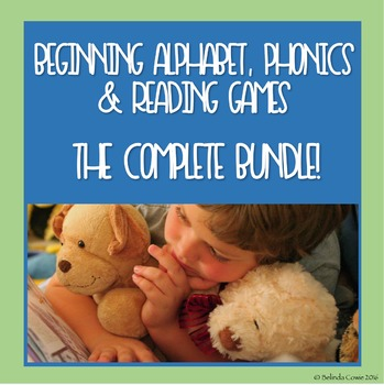 Beginning Alphabet, Phonics and Reading Games and Puzzles Bundle