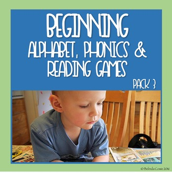Beginning Alphabet, Phonics and Reading Games and Puzzles Pack 3