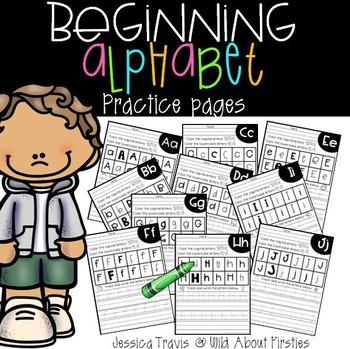 Beginning Alphabet Practice Pages {freebie}