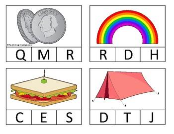 Beginning Alphabet Sound Clip Cards