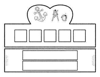 Beginning Alphabet Sound Crown Hat Set for the letter A