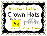 Beginning Alphabet Sound Crown Hat Set for the letter A