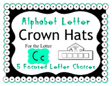 Beginning Alphabet Sound Crown Hat Set for the letter C